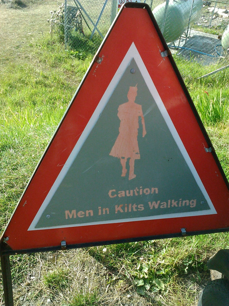 road sign kilts